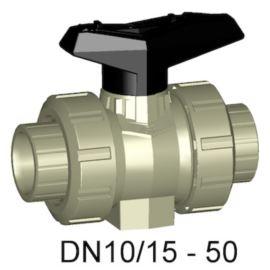 Zawór kulowy 546 PP-H/EPDM mufa d50