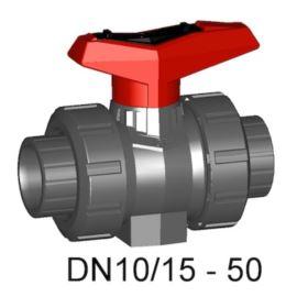 Zawór kulowy 546 PVC-U/EPDM mufa d40(DN32)